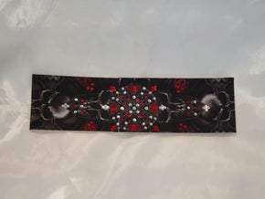 Red Celtic Knot with Red and Diamond Clear Swarovski Crystals (Sku2888)