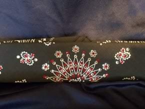 Narrow Black Paisley with Red and Diamond Clear Swarovski Crystals (sku2067)