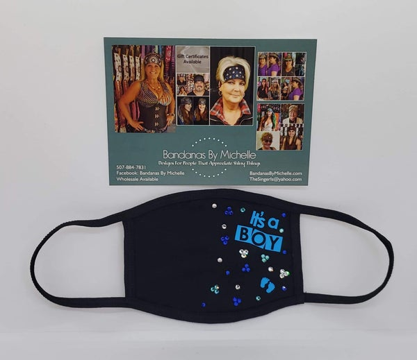 Face Mask It's A Boy with Bling (Sku5941)