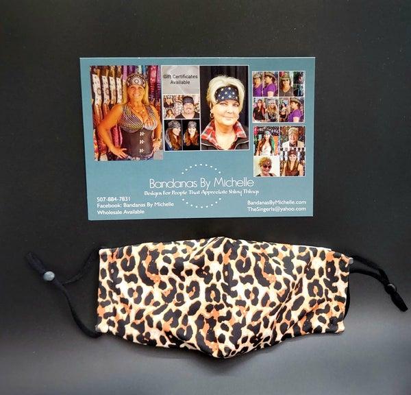 Leopard Print face mask (Sku5932) *Final Sale*