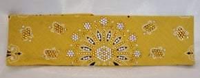 LeeAnnette Golden Paisley With Sunflower and Aurora Borealis Swarovski Crystals (Sku4033)