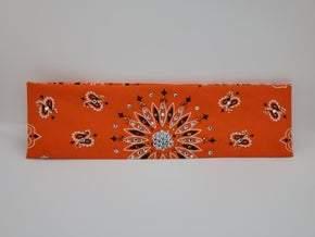 Orange Paisley with Orange and Diamond Clear Swarovski Crystals (Sku2195)