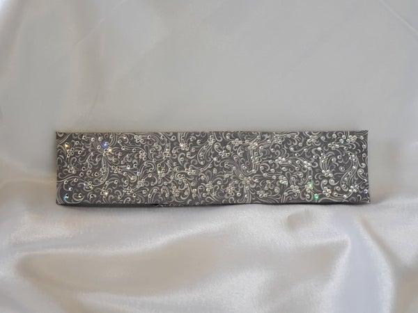 LeeAnnette Gray Scroll with Diamond Clear Swarovski Crystals (Sku4420)