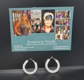 White Crystal Earrings (Sku8019)