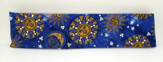 Suns and Moons with Blue and Diamond Clear Swarovski Crystals (Sku1825)