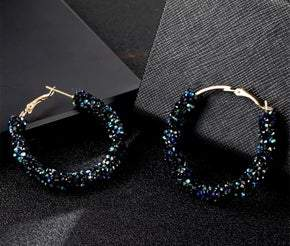 Blue Crystal Earrings (sku8017)