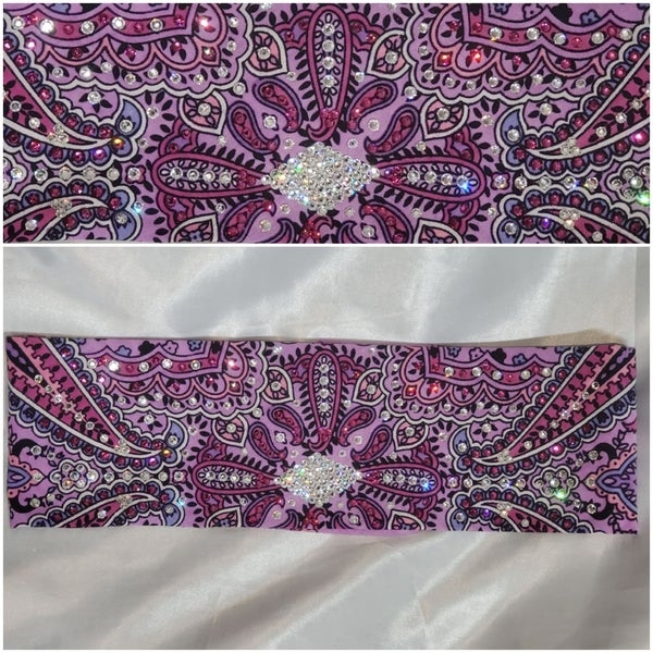 Lavender Indian LeeAnnette with Fuchsia and Diamond Clear Swarovski Crystals