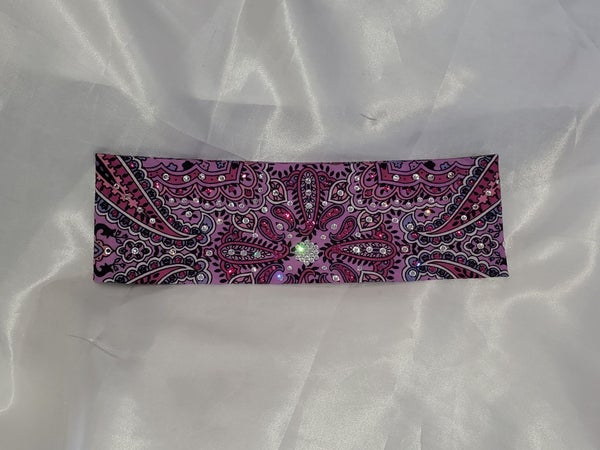 Lavender Indian with Fuchsia and Clear Swarovski Crystals (Sku1402)