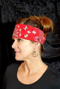 LeeAnnette Red Paisley With Red and Diamond Clear Swarovski Crystals (Sku4001)