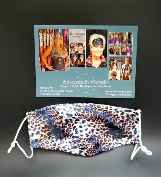 Cheetah print face mask (sku5933) *Final Sale*