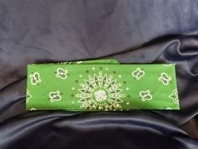 Dark Green Paisley with Peridot and Diamond Clear Swarovski Crystals (Sku2432)