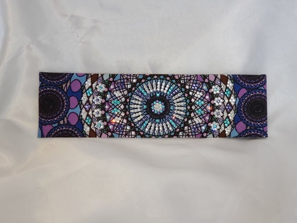 LeeAnnette Purple Blue Kaleidoscope with Light Blue, Light Purple and Diamond Clear Swarovski Crystals (Sku4090)
