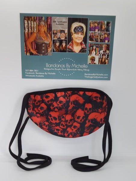 Red Skulls Face Mask *Final Sale* (Sku5914)