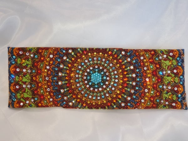 LeeAnnette Grateful Dead Bandana With Turquoise Center (Sku4030)