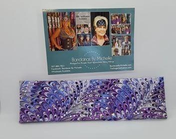 LeeAnnette Purple Oil Slick with Dark Purple, Light Purple and Diamond Clear Swarovski Crystals (Sku4800)