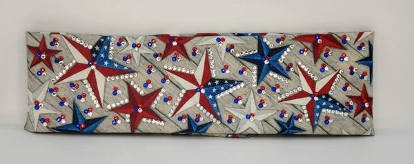 LeeAnnette Stars with Red, Blue and Diamond Clear of Swarovski Crystals (sku4932)