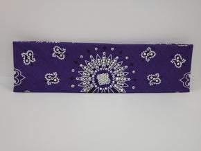 Purple Paisley with Aurora Borealis and Diamond Clear Swarovski Crystals (Sku2481)