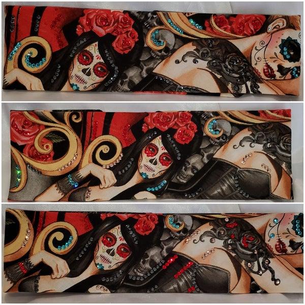 Rose Headdress Red Eye and Blonde (Sku6107)