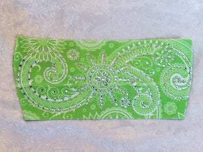 Stretchy Bright Green Sun Spiral Headband with Clear Crystals (Sku5061)