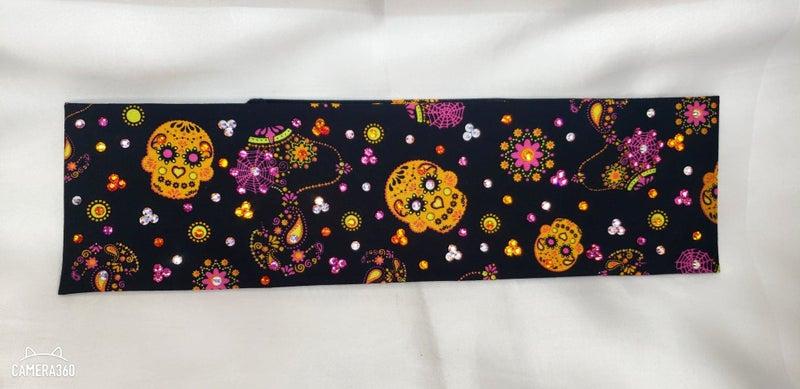 Snoopy Sugar Skulls with Multi-Colored Swarovski Crystals (Sku1794)