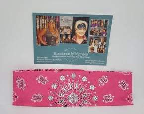 LeeAnnette Bright Pink Paisley with Rose and Diamond Clear Swarovski Crystals (Sku4440)