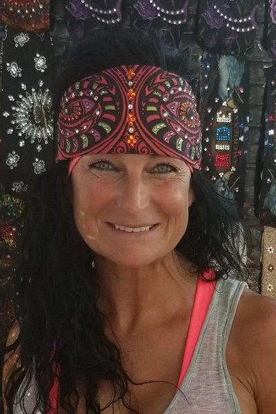 Totem Face with Swarovski Crystal Bandana (Sku1098)