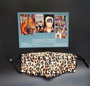 Leopard Print face mask (Sku5953) *Final Sale*