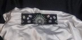 LeeAnnette Black Paisley with Diamond Clear Swarovski Crystals (Sku4360)
