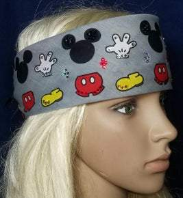 Mickey Mouse bandana with Swarovski crystals (Sku1010)