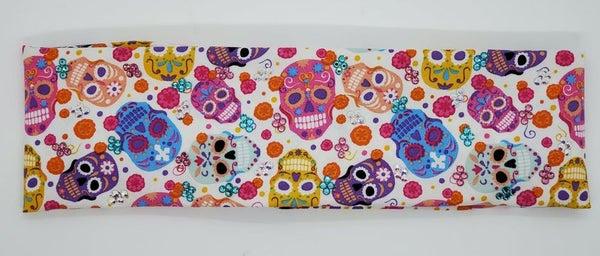 Pastel Sugar Skulls with Turquoise, Pink and Aurora Borealis Swarovski Crystals (Sku9993)