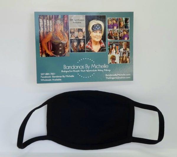 Plain Black Face Mask *Final Sale* (Sku5902)