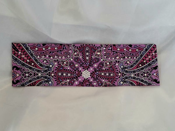 Lavender Indian with Purple and Clear Crystals (Sku1401)