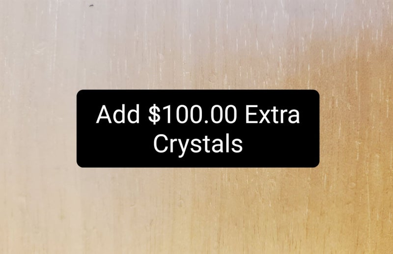 Add $100 f Crystals to Product