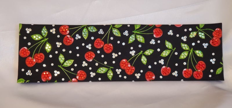 LeeAnnette Cherries with Red, Green and Diamond Clear Swarovski Crystals (Sku4058)