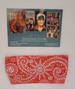 Stretchy Headband Pinkish/Coral with Diamond Clear Crystals (Sku5024)