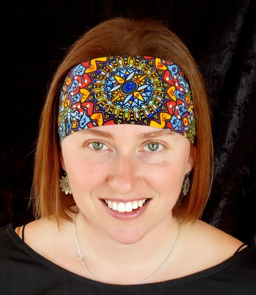Grateful Dead Turtle bright colored Swarovski Crystal bandana (Sku1023)