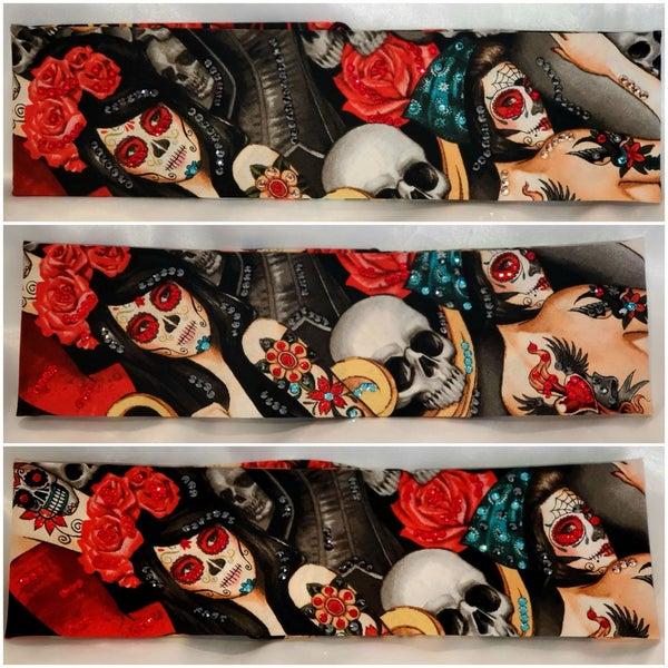 Rose Headdress Red Eye Bandana Girl (Sku6106)
