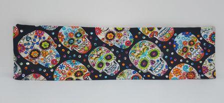 LeeAnnette Skull Bandana with Multiple Colors of Swarovski Crystals (Sku4012)