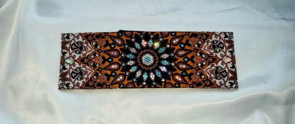 Mustard Indian with Turquoise and Clear Crystals (Sku1308)