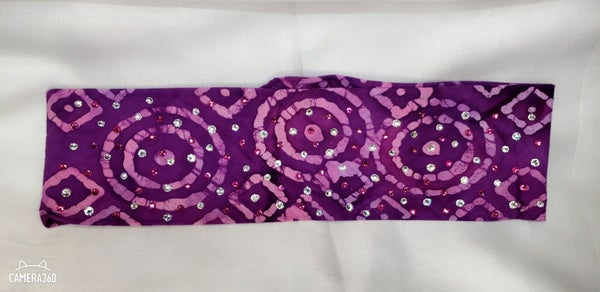 Purple and Pink Shapes with Fuchsia and Diamond Clear Swarovski Crystals (Sku9930)