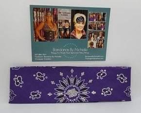 Purple Paisley with Diamond Clear Swarovski Crystals (Sku2483)