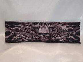 Wing Skull with Black Swarovski Crystals (Sku1557)