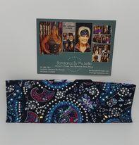 LeeAnnette Black Purple and Turquoise Mardi Gras Design with Purple, Turquoise and Diamond Clear Swarovski Crystals (Sku4081)