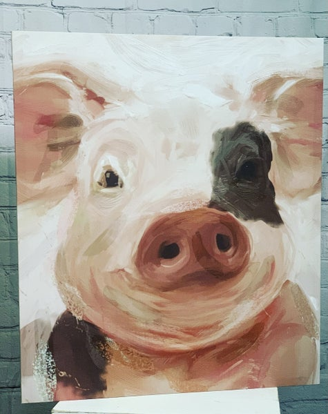 """Wally the Pig  22""""Canvas"""