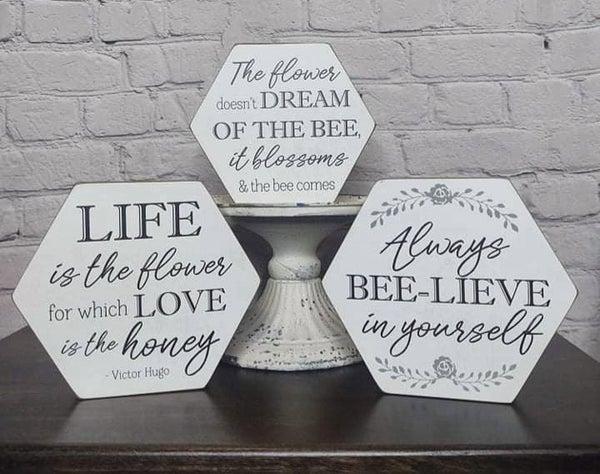 Honeycomb Bee Sign