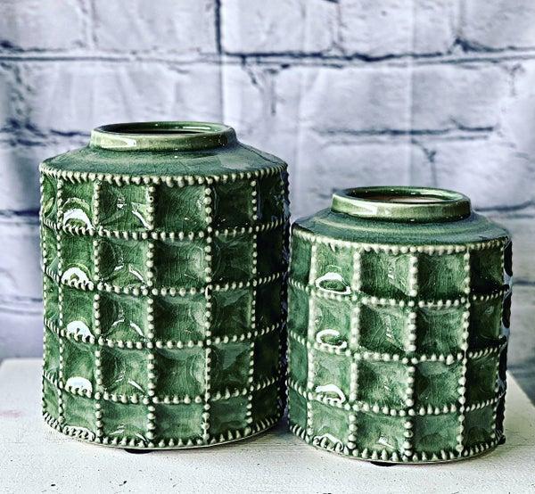 Green Terra Cotta Vase Md