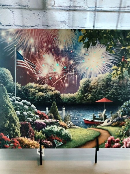 American light up  Firework Pic w/ timer