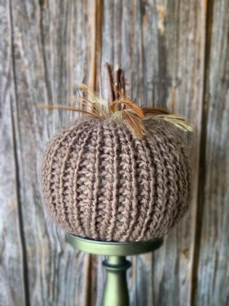 Brown Crochet Pumpkin