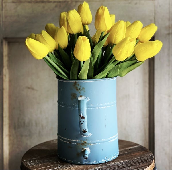 Rustic Blue Flower Holder