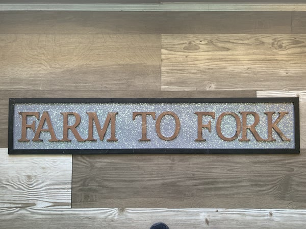 Metal Farm To Fork Sign